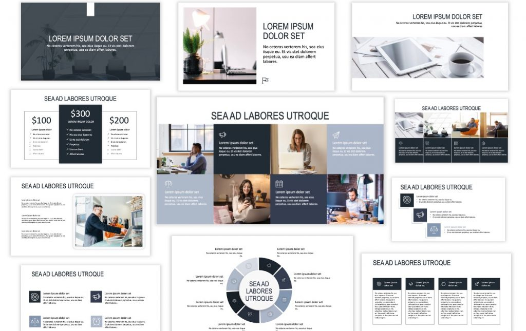 ROME BUSINESS GRAY FREE POWERPOINT TEMPLATE