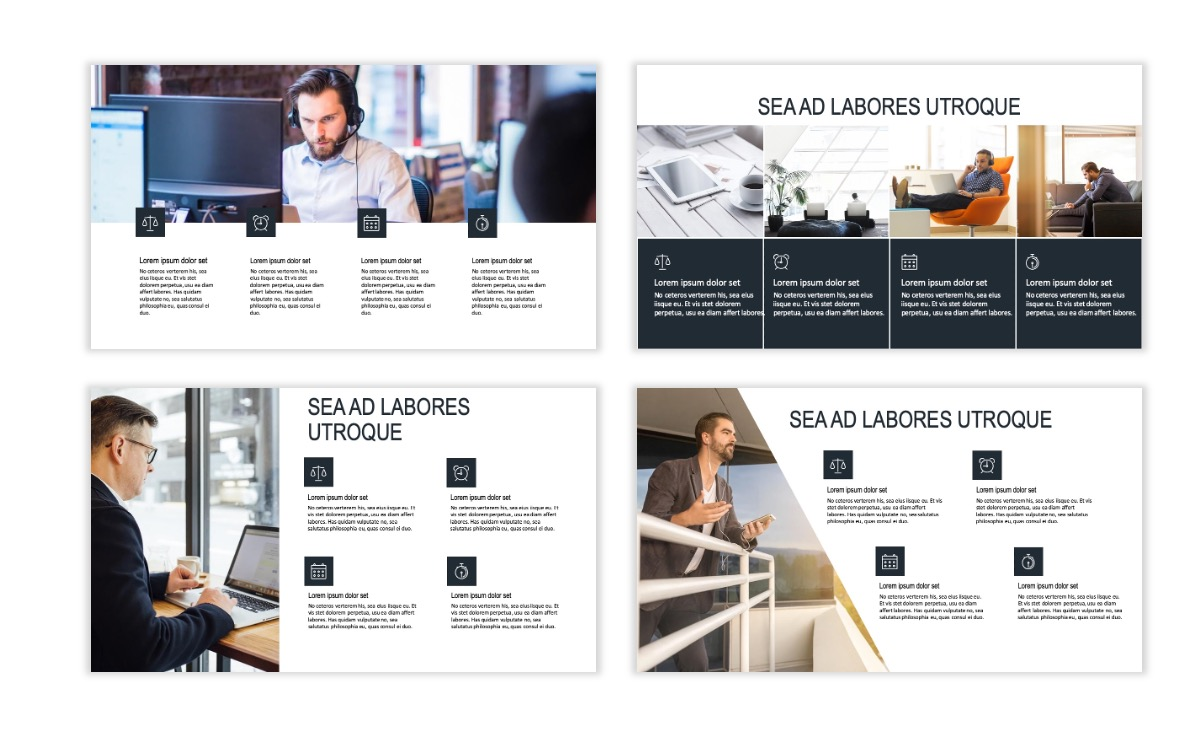 ROME - Gray - Business - Professional - Aesthetic - Clean - Minimal Slide 13
