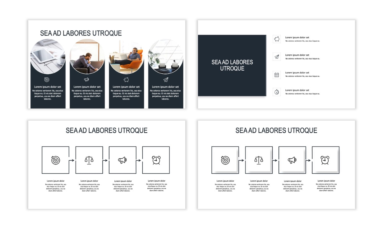 ROME - Gray - Business - Professional - Aesthetic - Clean - Minimal Slide 14