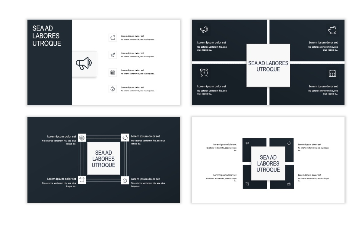 ROME - Gray - Business - Professional - Aesthetic - Clean - Minimal Slide 15