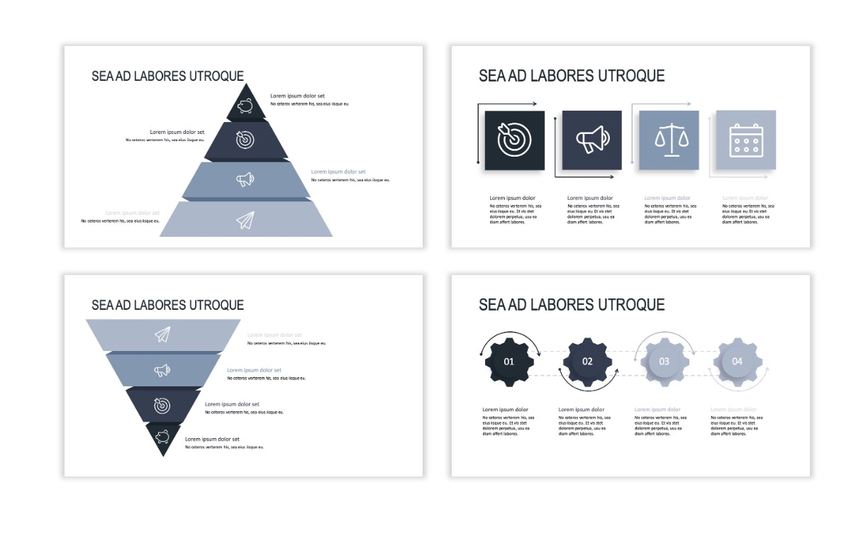 ROME - Gray - Business - Professional - Aesthetic - Clean - Minimal Slide 16