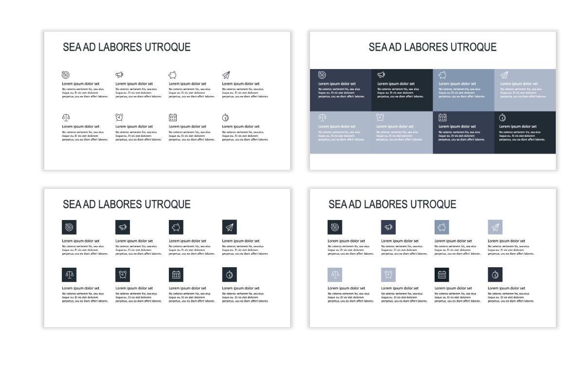 ROME - Gray - Business - Professional - Aesthetic - Clean - Minimal Slide 17
