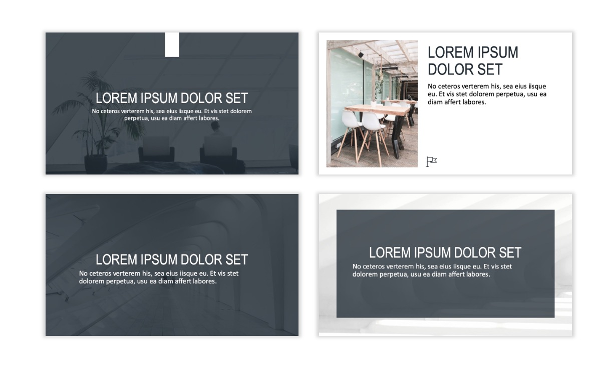 ROME - Gray - Business - Professional - Aesthetic - Clean - Minimal Slide 2