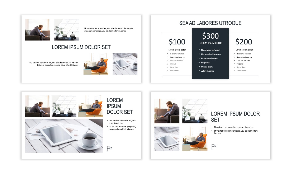 ROME - Gray - Business - Professional - Aesthetic - Clean - Minimal Slide 7