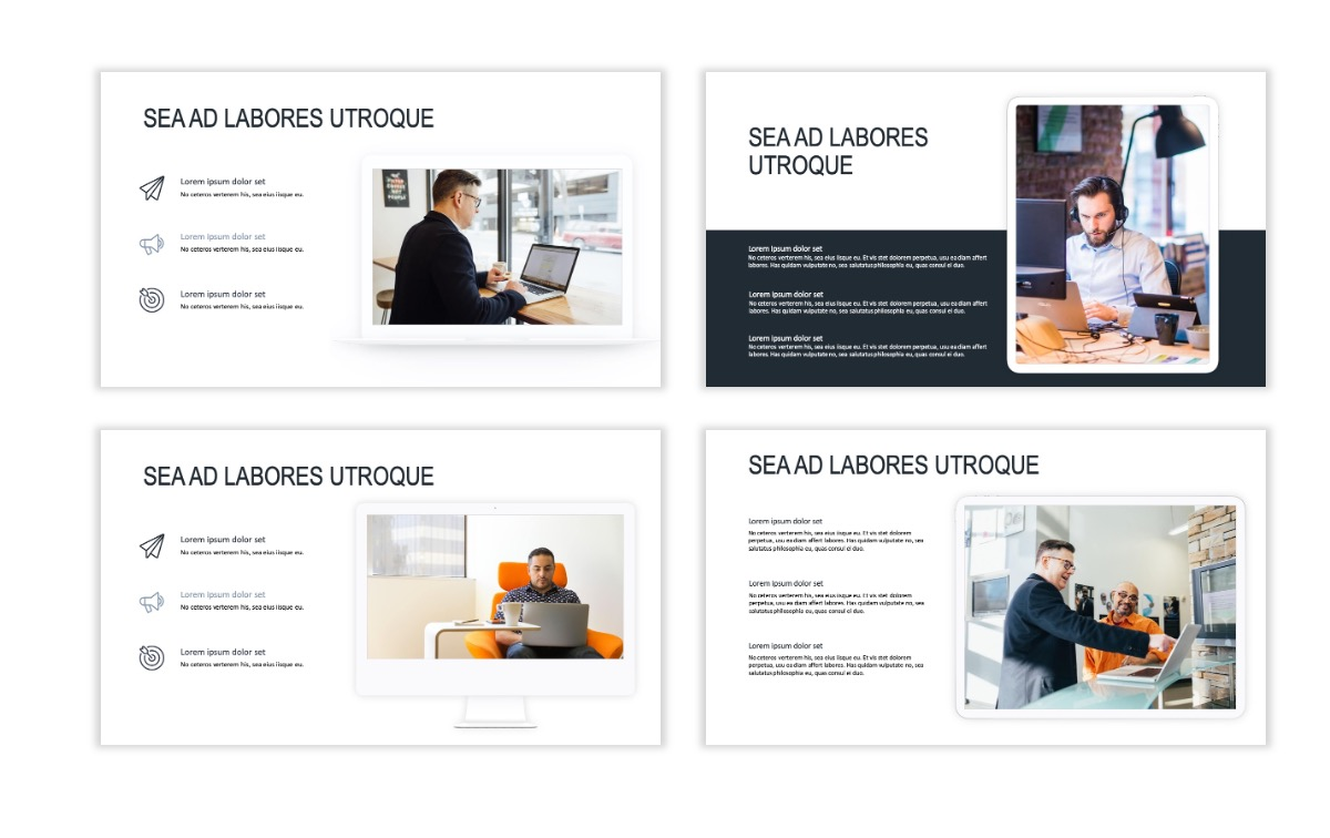 ROME - Gray - Business - Professional - Aesthetic - Clean - Minimal Slide 9