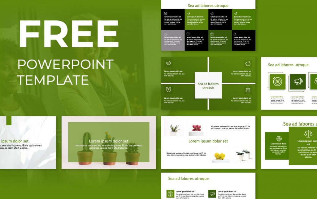 ROME SIMPLE GREEN FREE POWERPOINT TEMPLATE