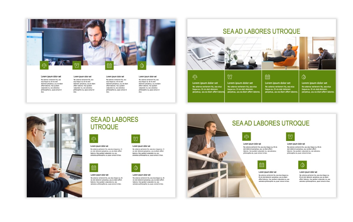 ROME - Green - Business - Professional - Aesthetic - Clean - Minimal Slide 13