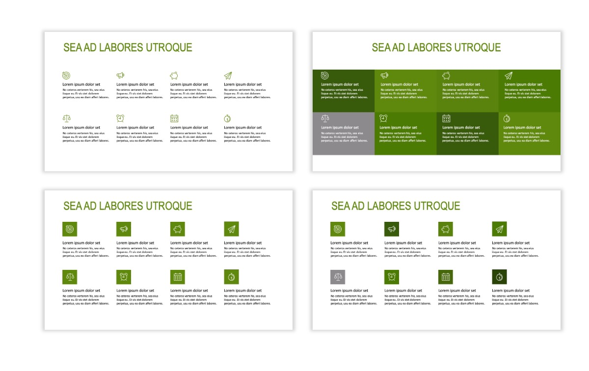 ROME - Green - Business - Professional - Aesthetic - Clean - Minimal Slide 17
