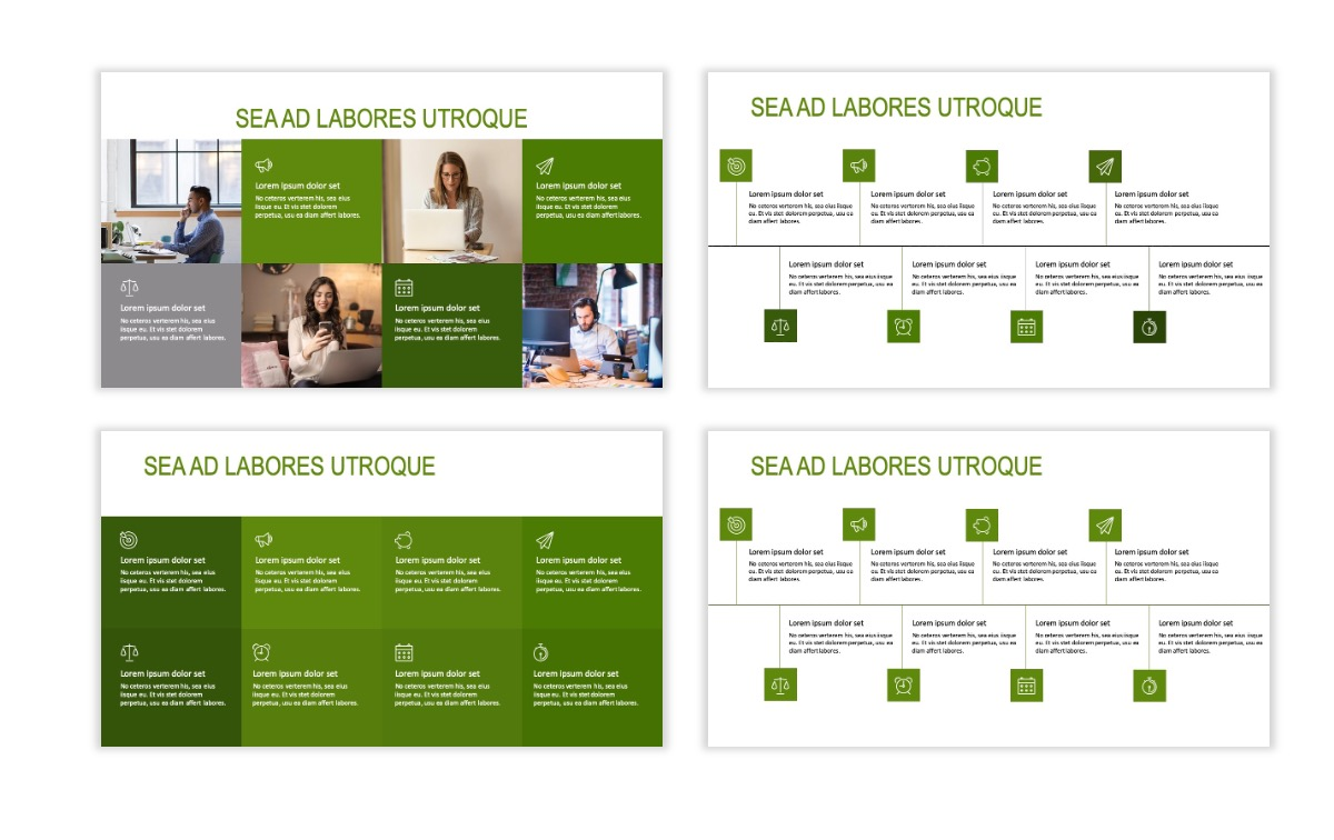 ROME - Green - Business - Professional - Aesthetic - Clean - Minimal Slide 18