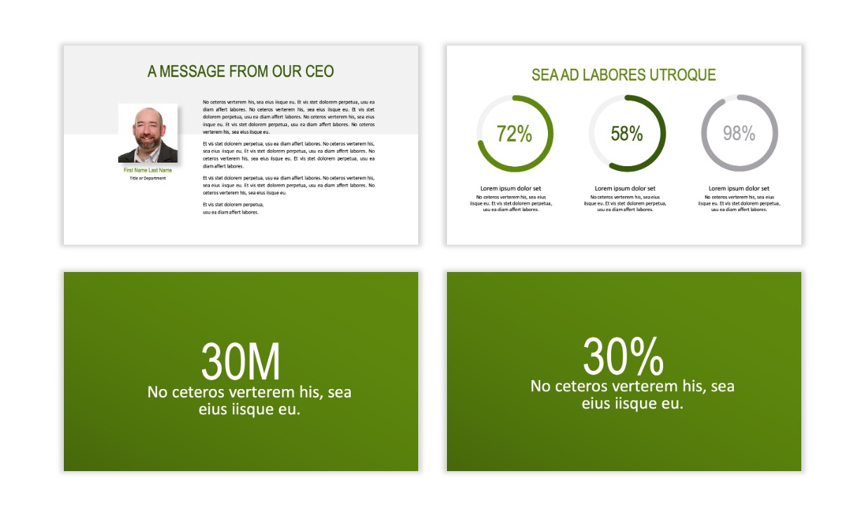 ROME - Green - Business - Professional - Aesthetic - Clean - Minimal Slide 24