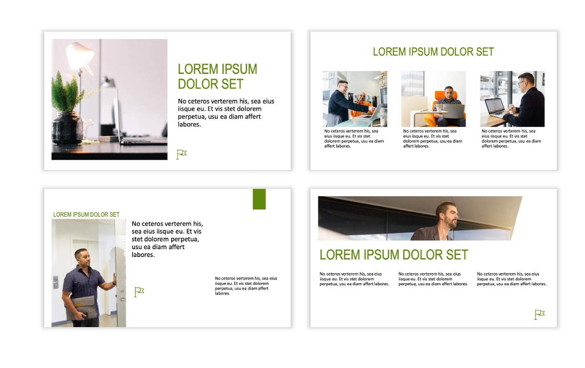 ROME - Green - Business - Professional - Aesthetic - Clean - Minimal Slide 3