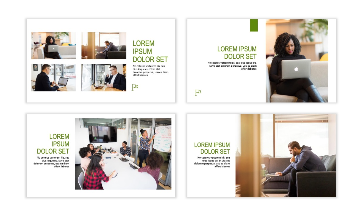 ROME - Green - Business - Professional - Aesthetic - Clean - Minimal Slide 5