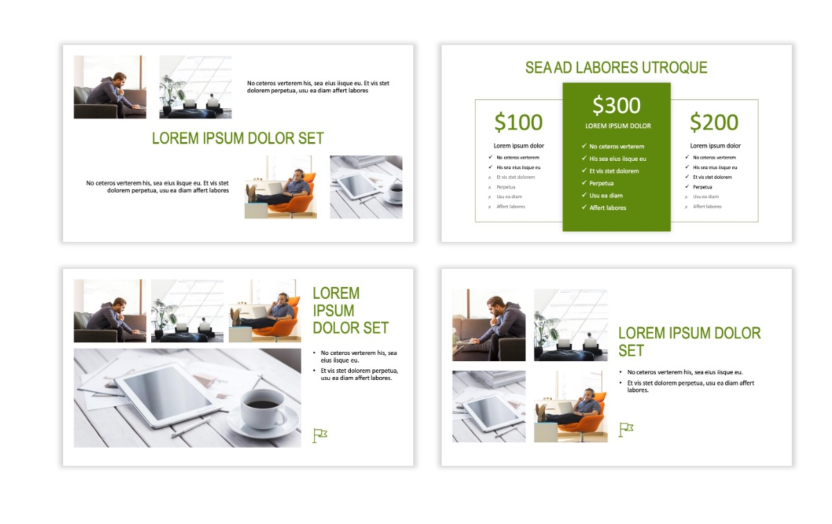 ROME - Green - Business - Professional - Aesthetic - Clean - Minimal Slide 7
