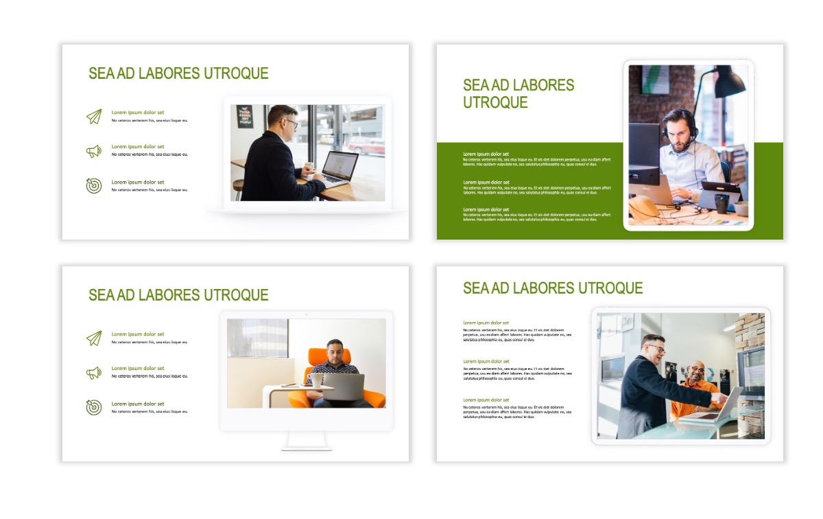 ROME - Green - Business - Professional - Aesthetic - Clean - Minimal Slide 9