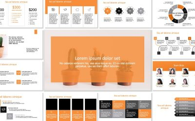 ROME BUSINESS ORANGE FREE POWERPOINT TEMPLATE