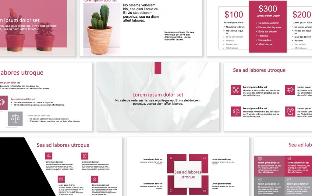 ROME BUSINESS PINK FREE POWERPOINT TEMPLATE