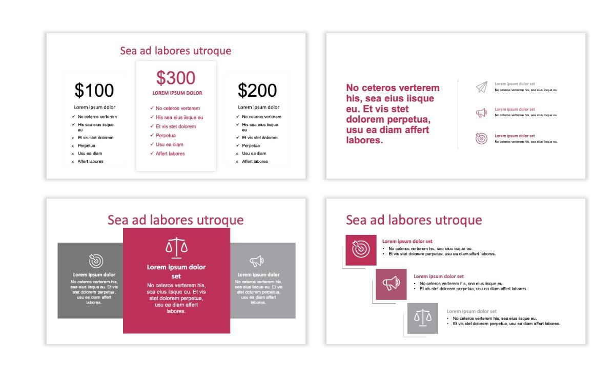 ROME - Pink - Aesthetic - Clean - Minimal Slide 8