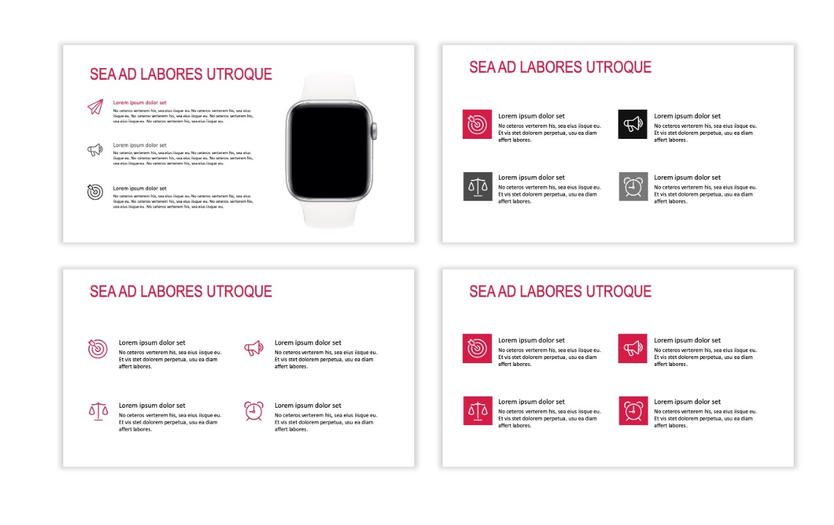 ROME - Red - Business - Professional - Aesthetic - Clean - Minimal Slide 10