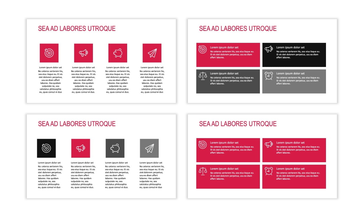 ROME - Red - Business - Professional - Aesthetic - Clean - Minimal Slide 11