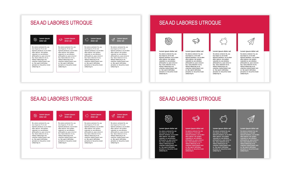 ROME - Red - Business - Professional - Aesthetic - Clean - Minimal Slide 12