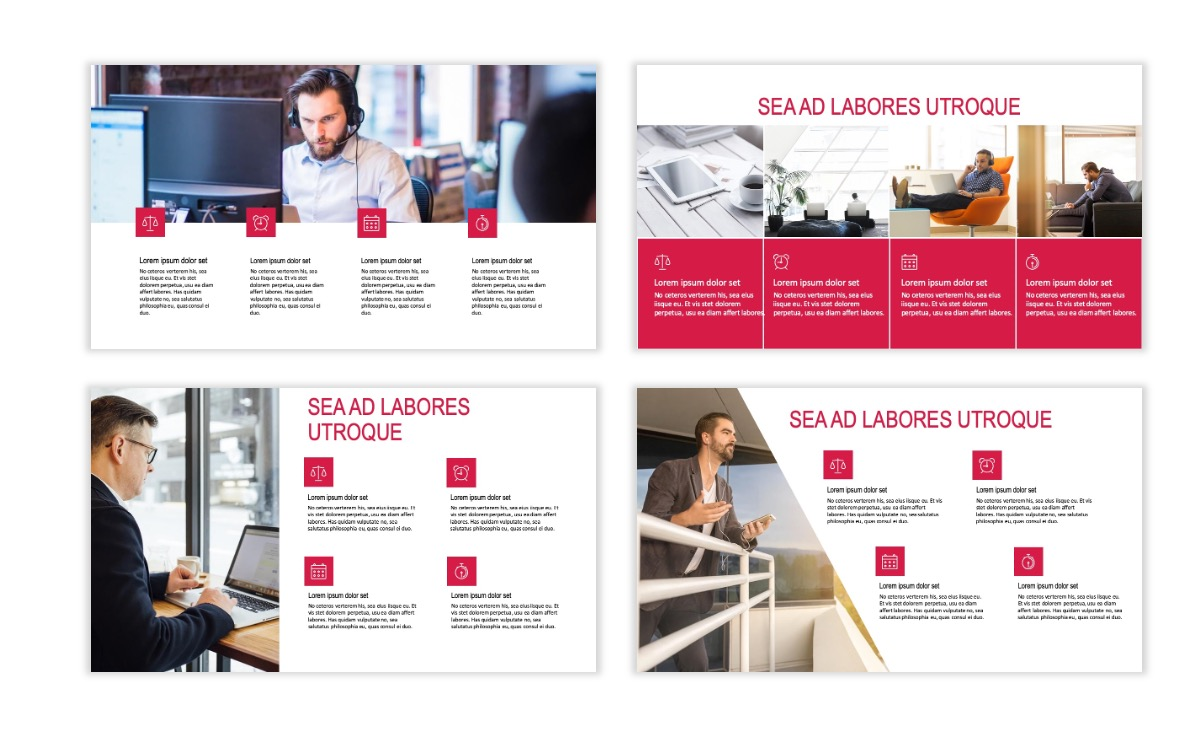 ROME - Red - Business - Professional - Aesthetic - Clean - Minimal Slide 13