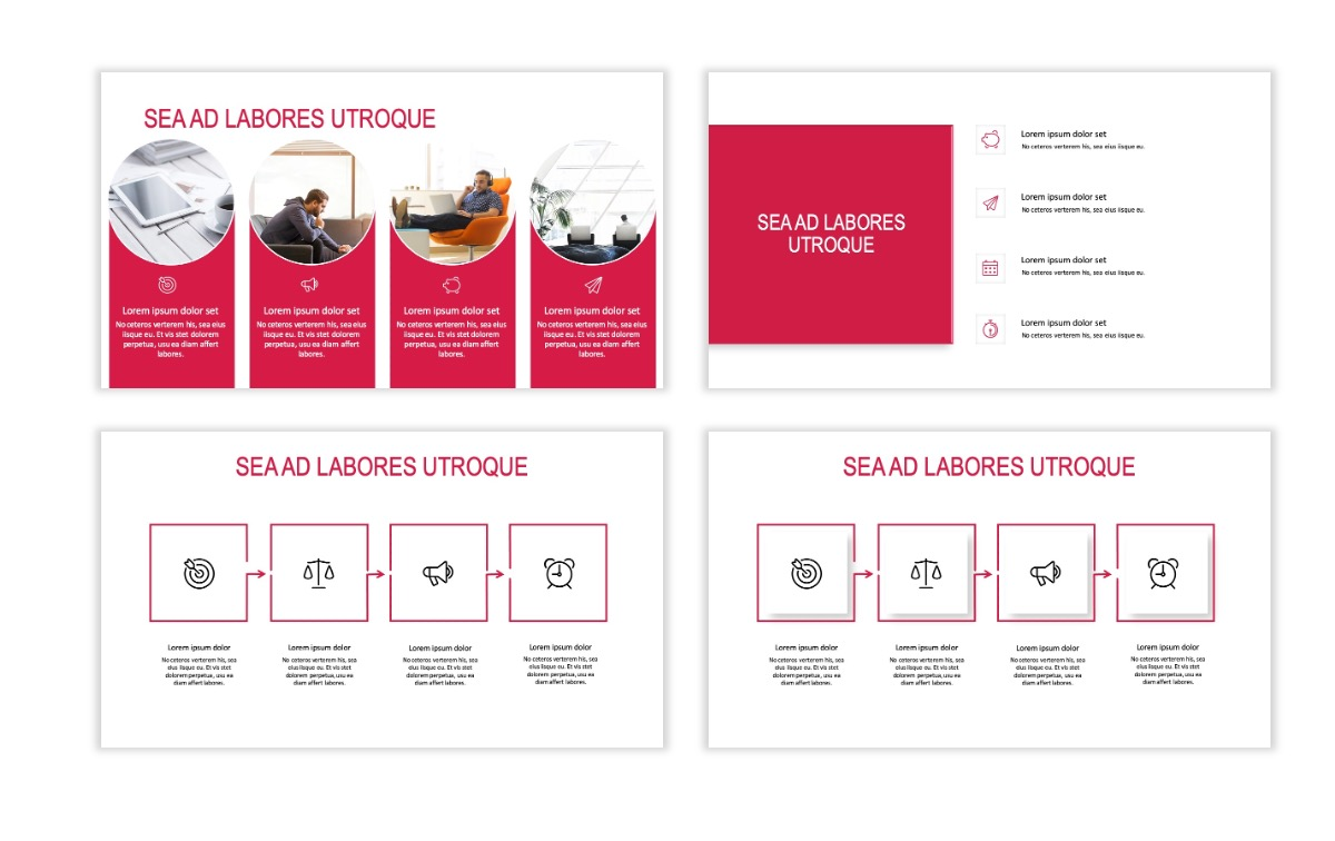ROME - Red - Business - Professional - Aesthetic - Clean - Minimal Slide 14