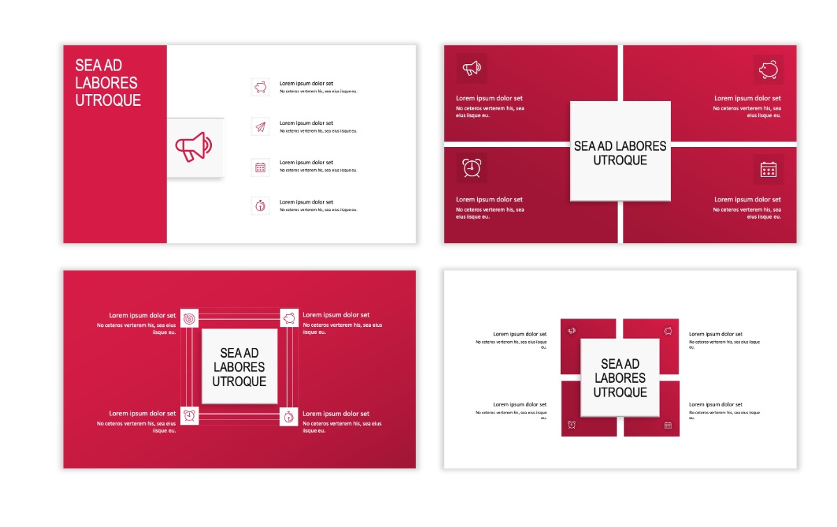 ROME - Red - Business - Professional - Aesthetic - Clean - Minimal Slide 15