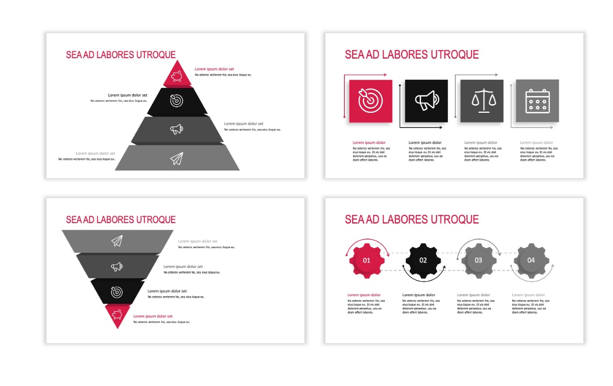ROME - Red - Business - Professional - Aesthetic - Clean - Minimal Slide 16
