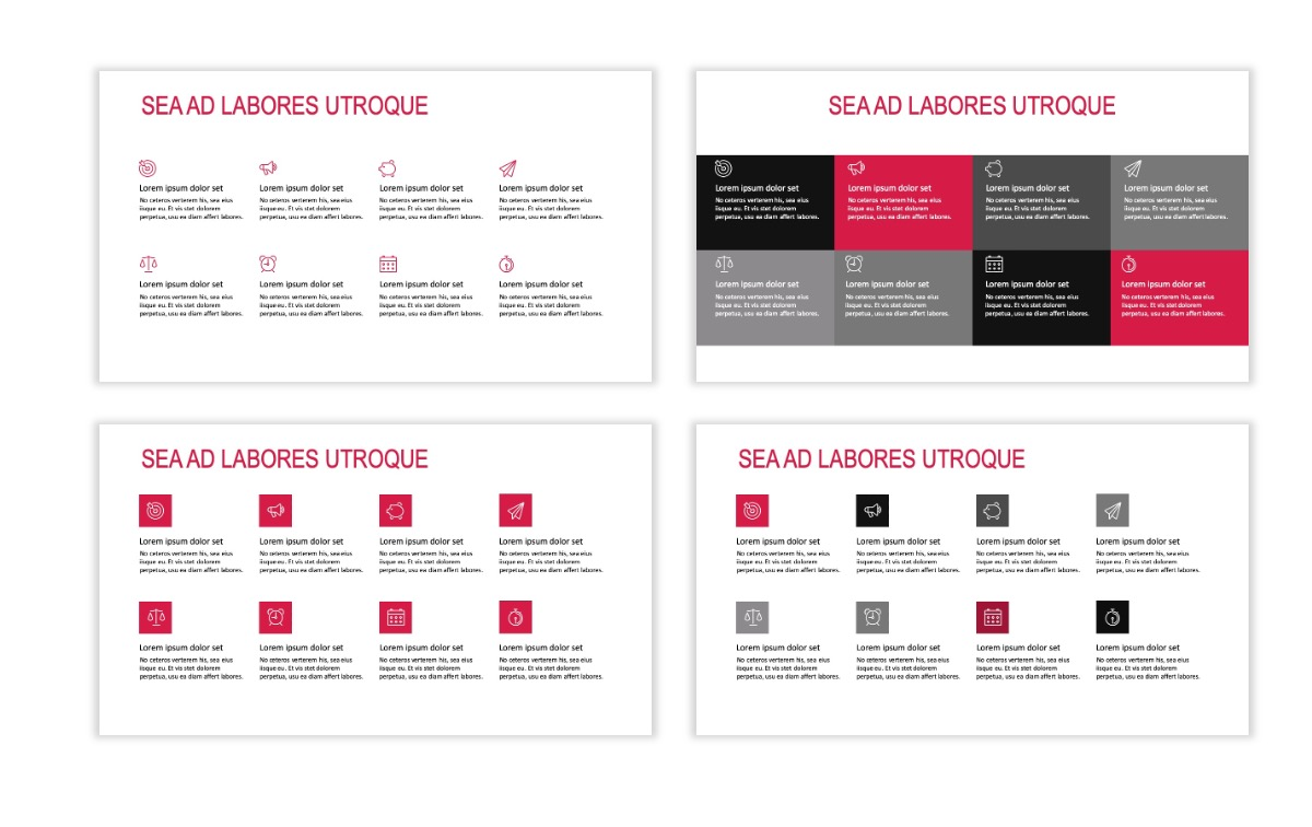 ROME - Red - Business - Professional - Aesthetic - Clean - Minimal Slide 17