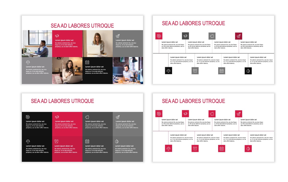 ROME - Red - Business - Professional - Aesthetic - Clean - Minimal Slide 18
