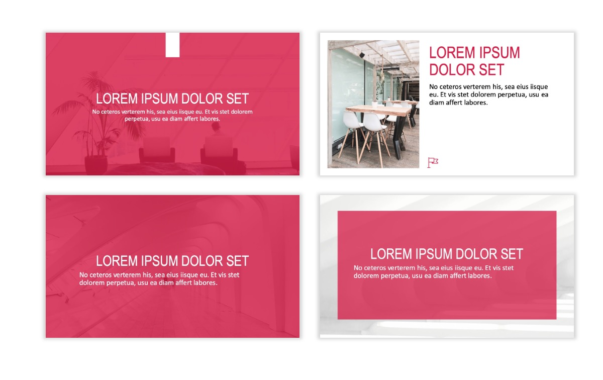 ROME - Red - Business - Professional - Aesthetic - Clean - Minimal Slide 2