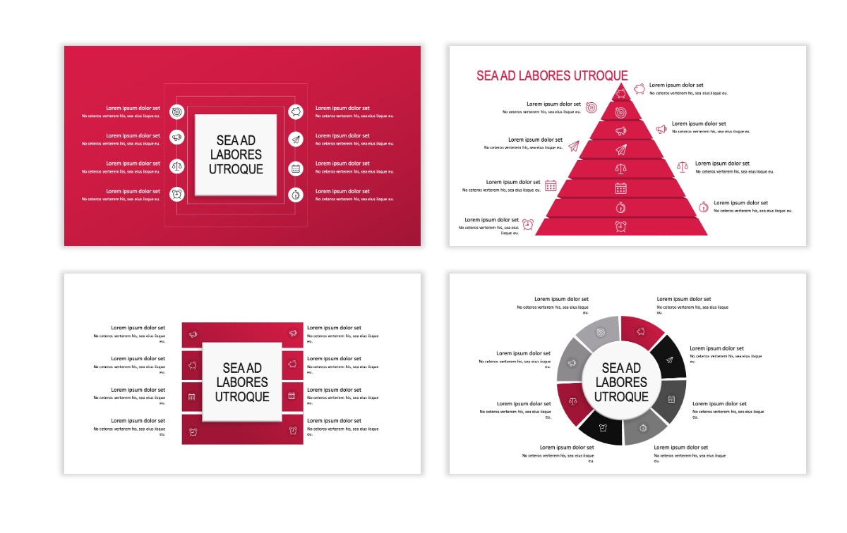ROME - Red - Business - Professional - Aesthetic - Clean - Minimal Slide 20