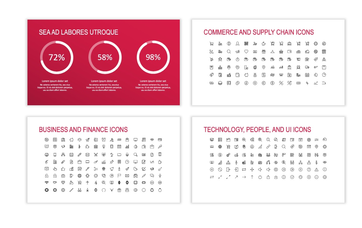 ROME - Red - Business - Professional - Aesthetic - Clean - Minimal Slide 25