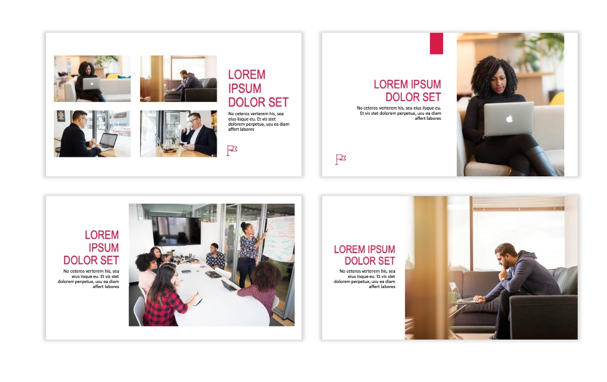 ROME - Red - Business - Professional - Aesthetic - Clean - Minimal Slide 5