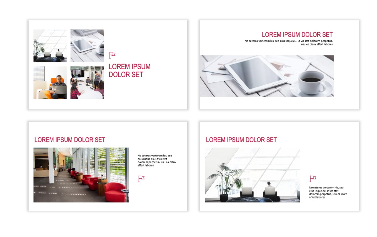 ROME - Red - Business - Professional - Aesthetic - Clean - Minimal Slide 6