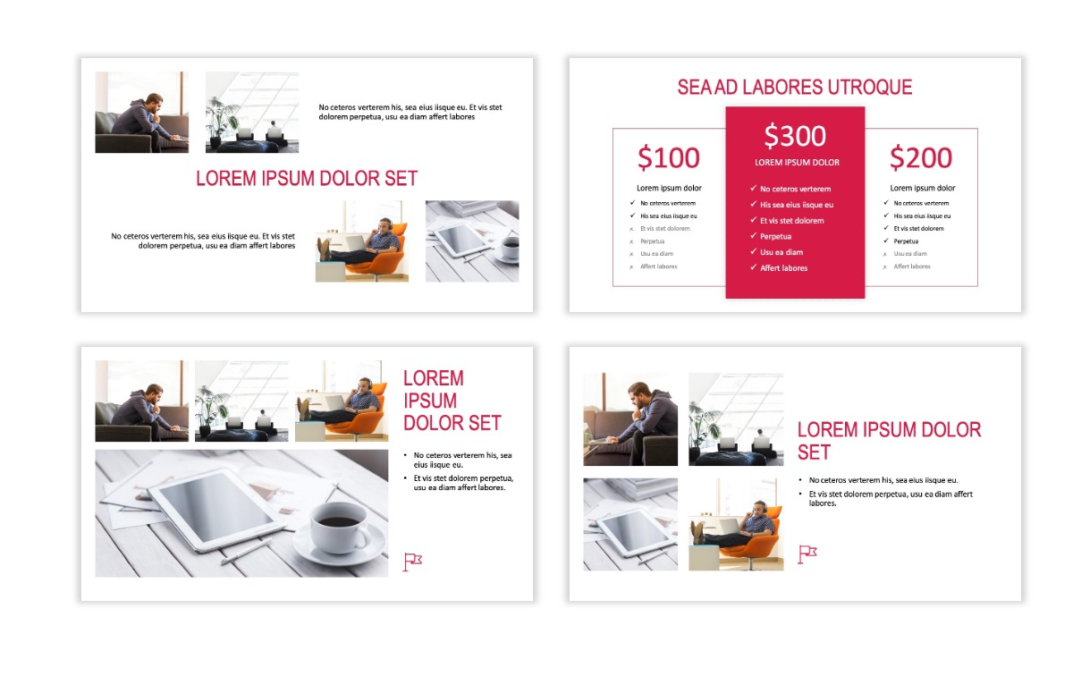 ROME - Red - Business - Professional - Aesthetic - Clean - Minimal Slide 7