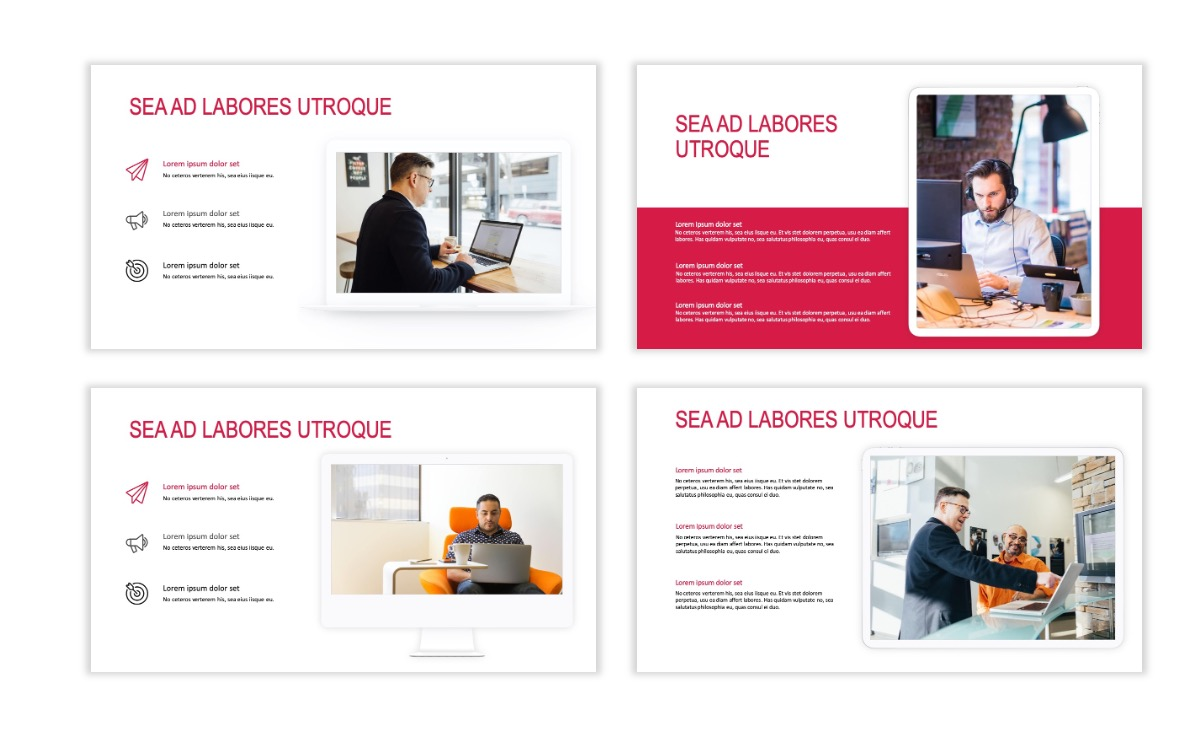 ROME - Red - Business - Professional - Aesthetic - Clean - Minimal Slide 9
