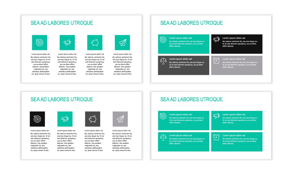 ROME - Teal - Business - Professional - Aesthetic - Clean - Minimal Slide 11