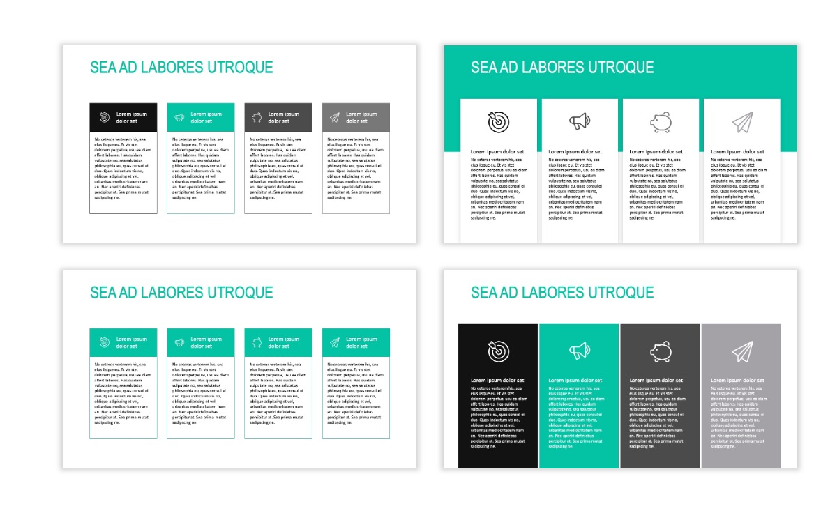ROME - Teal - Business - Professional - Aesthetic - Clean - Minimal Slide 12