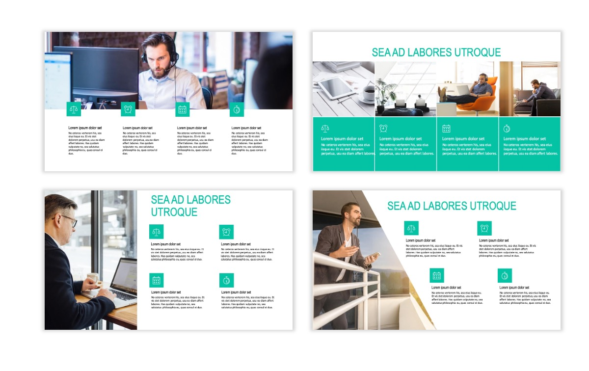 ROME - Teal - Business - Professional - Aesthetic - Clean - Minimal Slide 13
