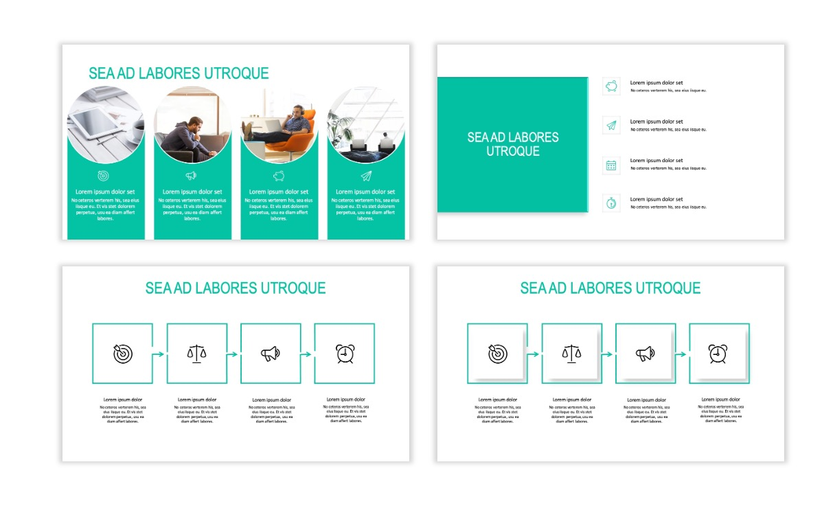 ROME - Teal - Business - Professional - Aesthetic - Clean - Minimal Slide 14