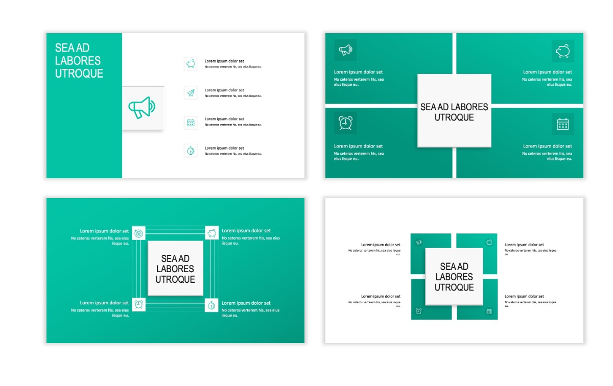 ROME - Teal - Business - Professional - Aesthetic - Clean - Minimal Slide 15