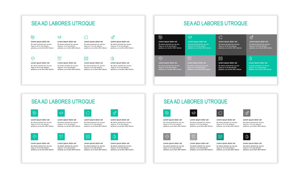 ROME - Teal - Business - Professional - Aesthetic - Clean - Minimal Slide 17