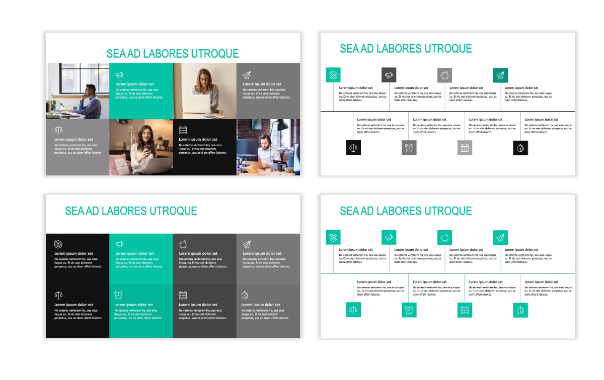 ROME - Teal - Business - Professional - Aesthetic - Clean - Minimal Slide 18