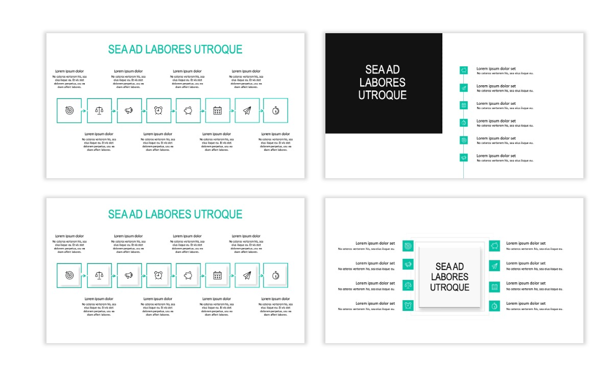 ROME - Teal - Business - Professional - Aesthetic - Clean - Minimal Slide 19