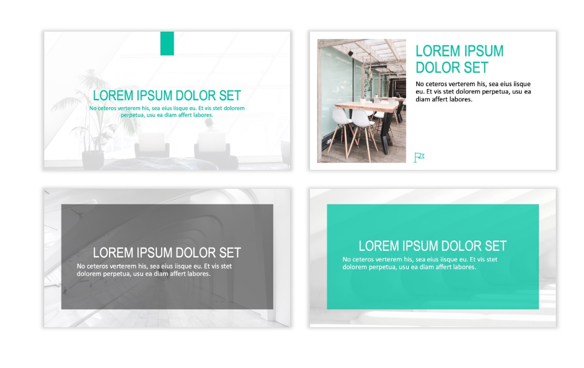 ROME - Teal - Business - Professional - Aesthetic - Clean - Minimal Slide 2
