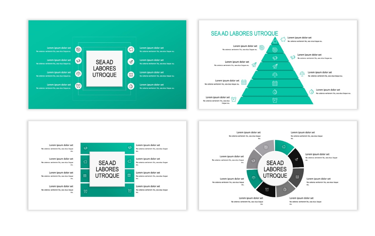 ROME - Teal - Business - Professional - Aesthetic - Clean - Minimal Slide 20