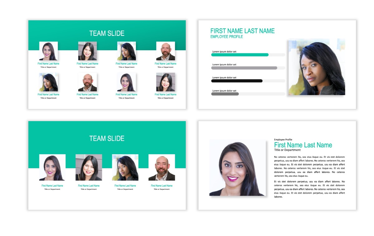 ROME - Teal - Business - Professional - Aesthetic - Clean - Minimal Slide 23