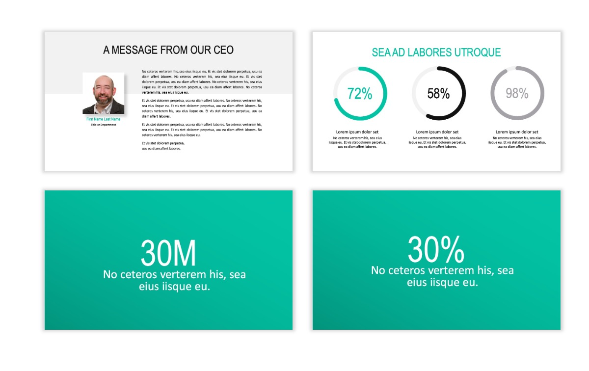 ROME - Teal - Business - Professional - Aesthetic - Clean - Minimal Slide 24