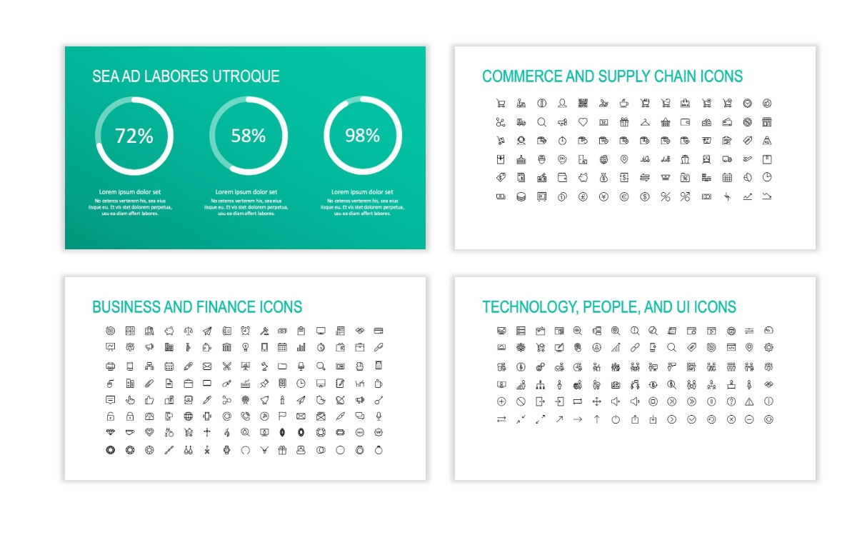 ROME - Teal - Business - Professional - Aesthetic - Clean - Minimal Slide 25